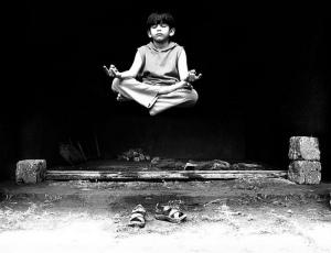 levitating boy